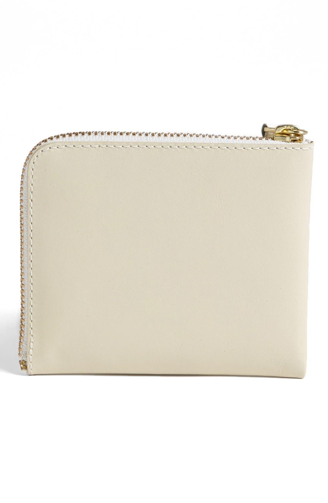 ,                             Half-Zip Leather Wallet,                             Alternate thumbnail 3, color,                             110