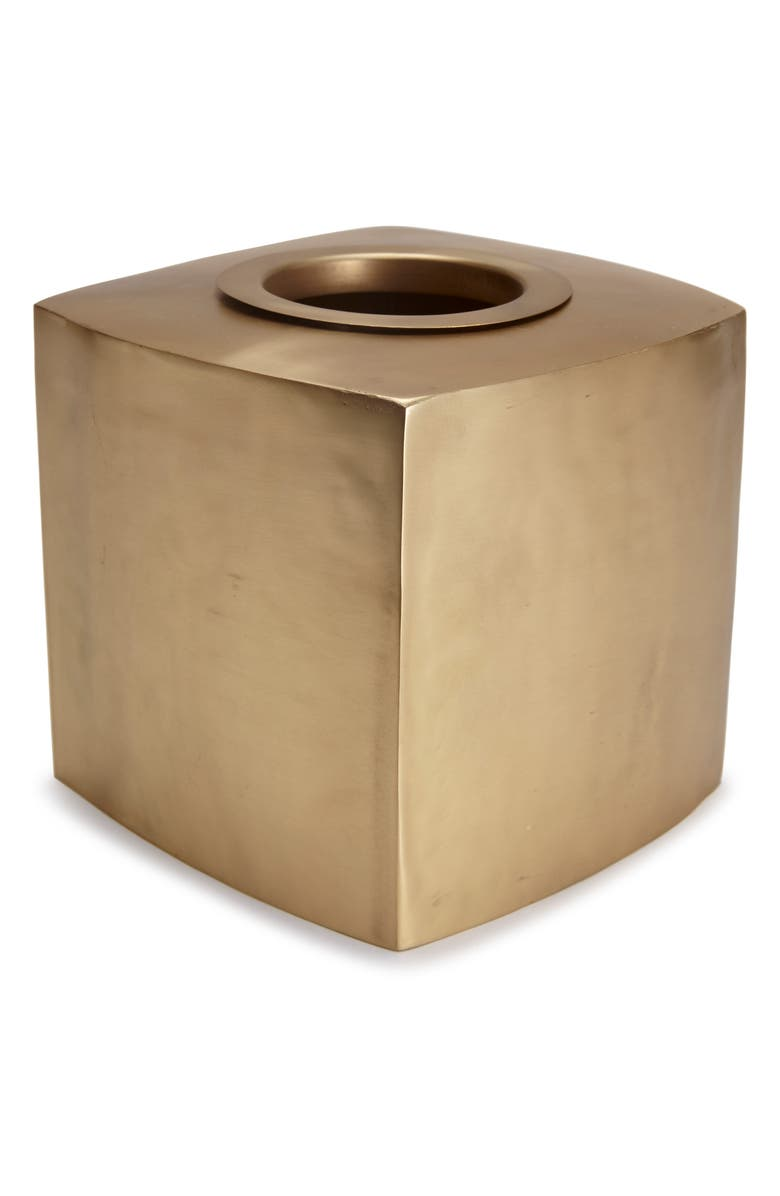 KASSATEX Nile Tissue Holder, Main, color, BRASS