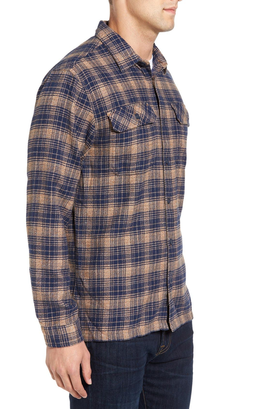 ,                             'Fjord' Regular Fit Organic Cotton Flannel Shirt,                             Alternate thumbnail 118, color,                             408