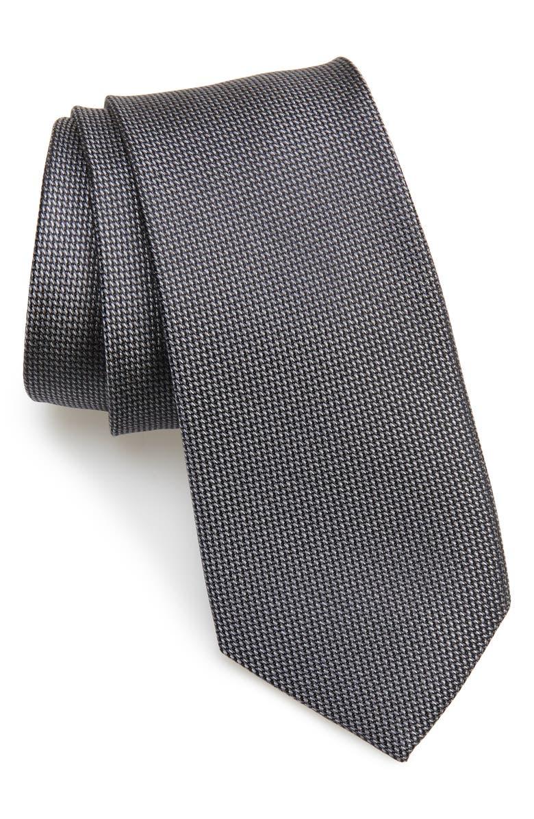 NORDSTROM MEN'S SHOP Joule Silk Tie, Main, color, CHARCOAL