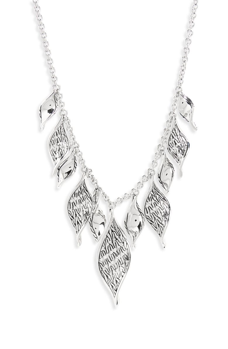 JOHN HARDY Classic Chain Wave Necklace, Main, color, SILVER