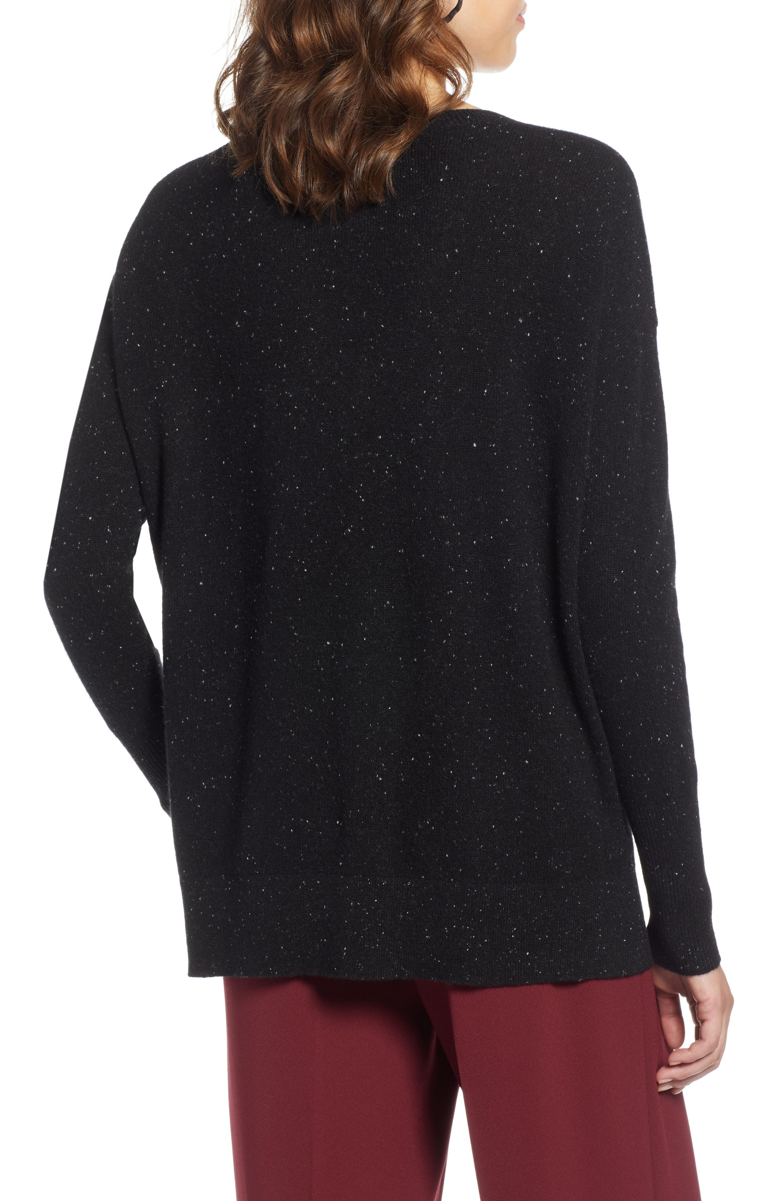 ,                             Relaxed V-Neck Cashmere Sweater,                             Alternate thumbnail 23, color,                             003