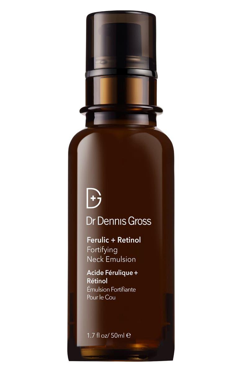 DR. DENNIS GROSS Skincare Ferulic + Retinol Fortifying Neck Emulsion, Main, color, NO COLOR
