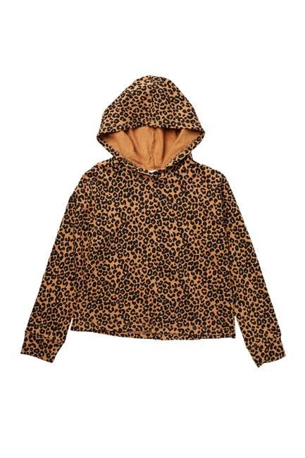 Image of Harper Canyon Fleece Polka Dot Printed Pullover Hoodie