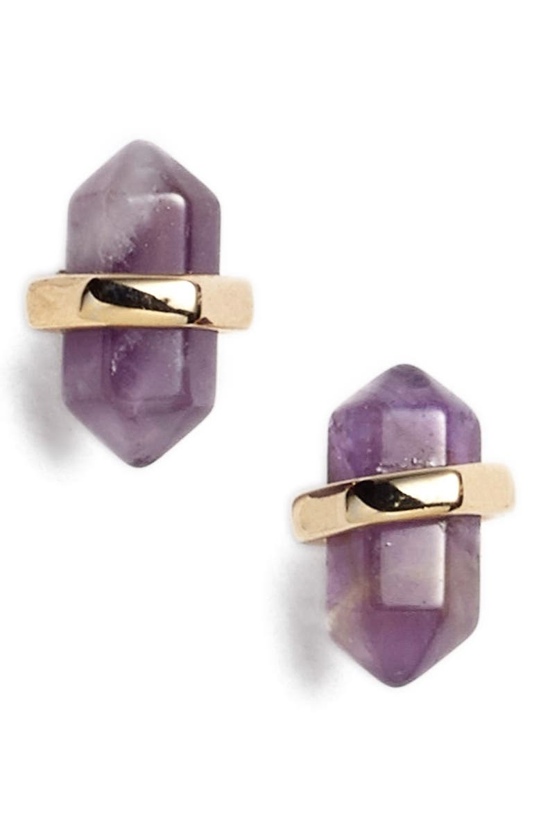 NORDSTROM Semiprecious Stone Stud Earrings, Main, color, 710