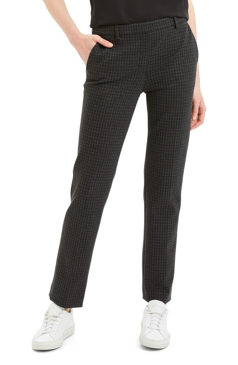THEORY Houndstooth Slim Pants, Main, color, 400