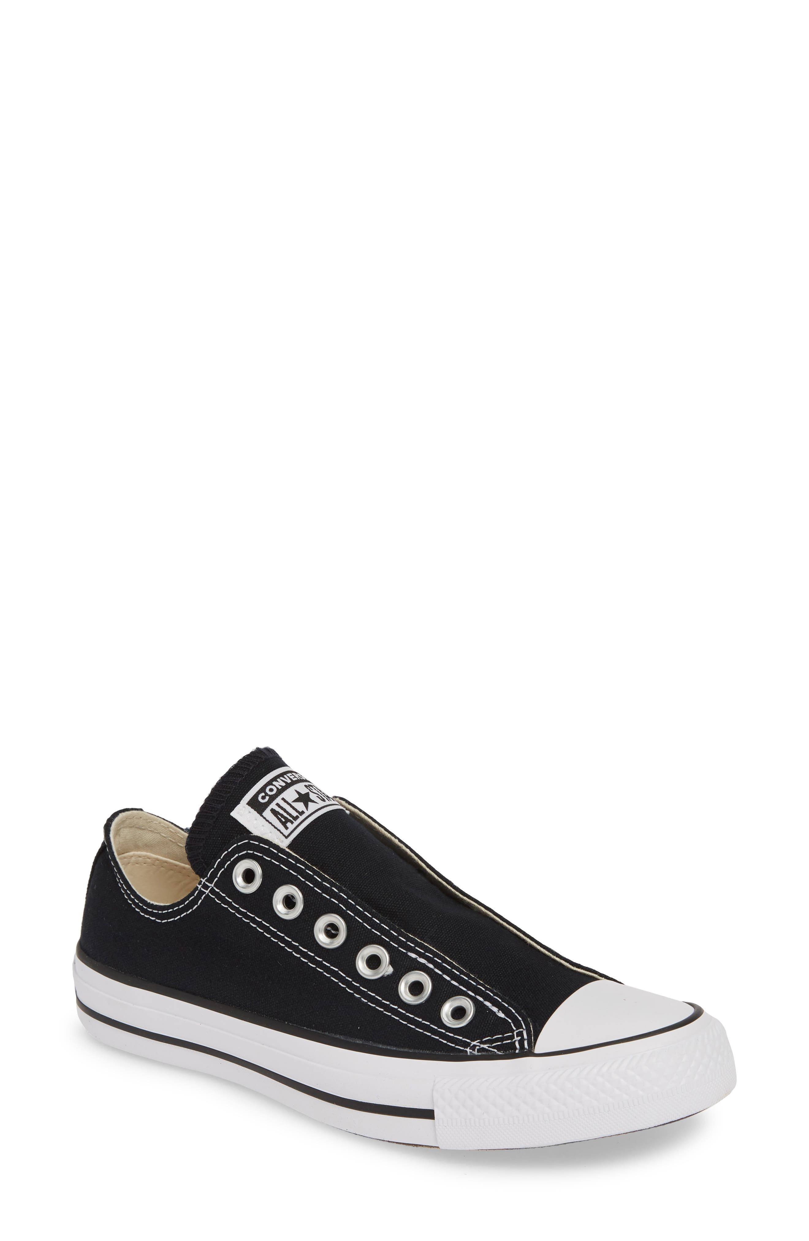 Converse Chuck Taylor All Star Laceless Low Top Sneaker- Black
