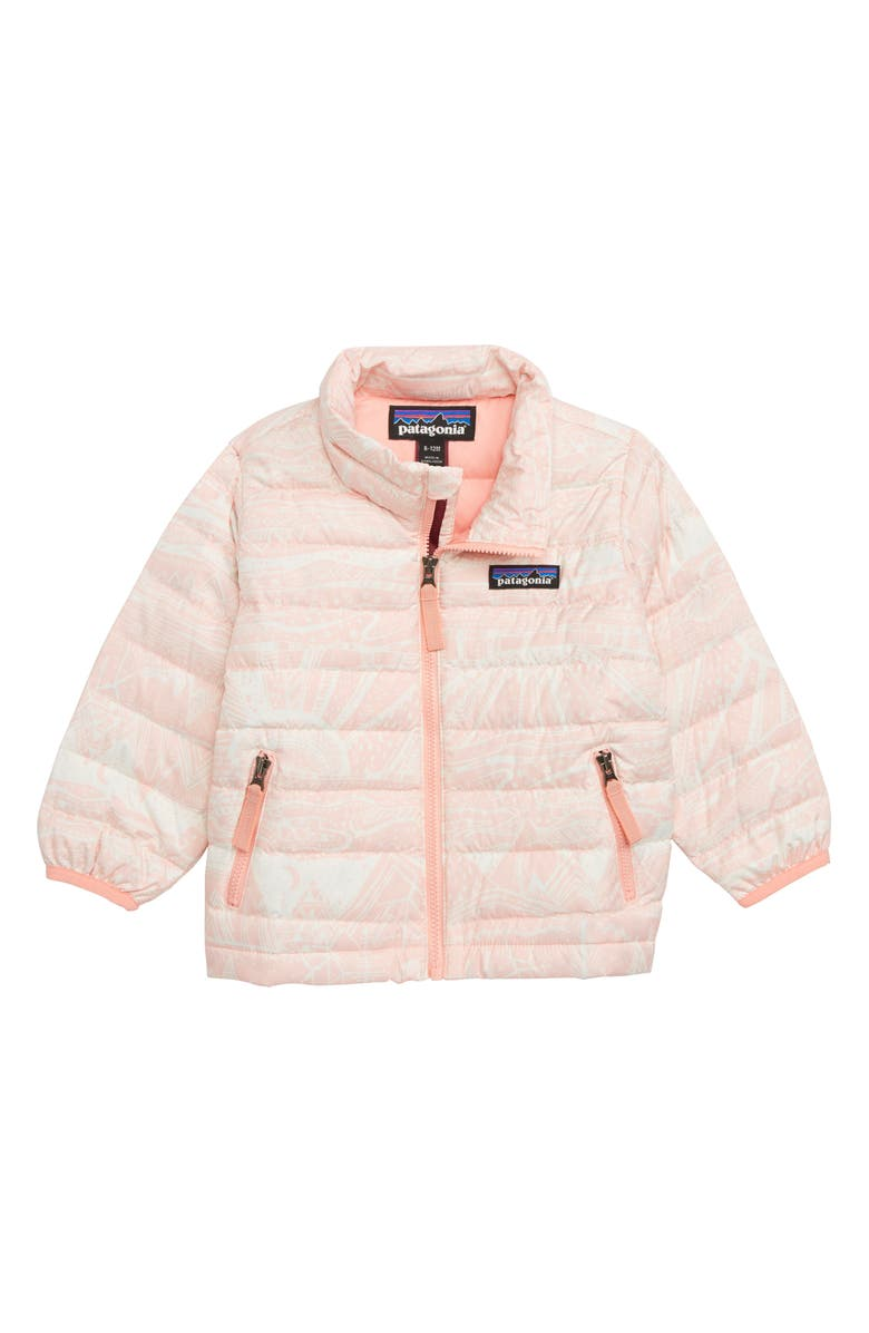 PATAGONIA Down Sweater Jacket, Main, color, ALBANIAN LAND PINK OPAL