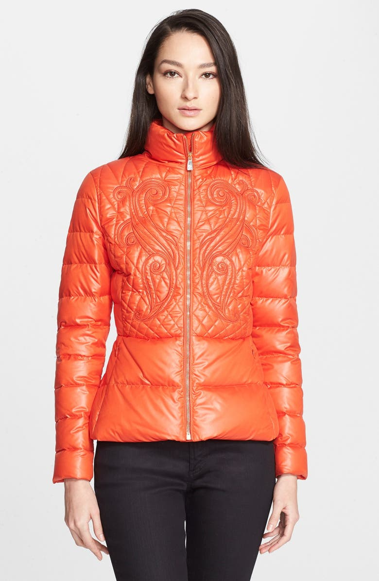 VERSACE COLLECTION Quilted Puffer Coat, Main, color, 600