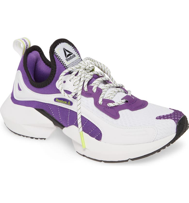 REEBOK Sole Fury 00 Running Shoe, Main, color, REGAL PURPLE/ WHITE/ NEON LIME