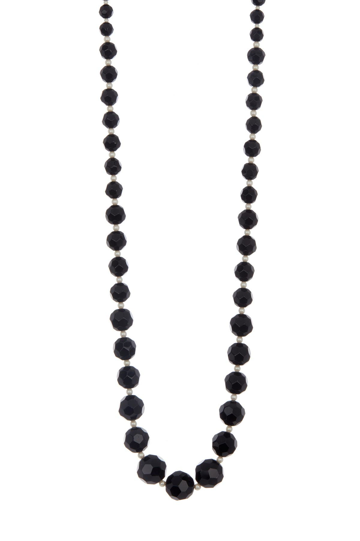 Image of Carolee Graduated Bead & Imitation Pearl Long Necklace