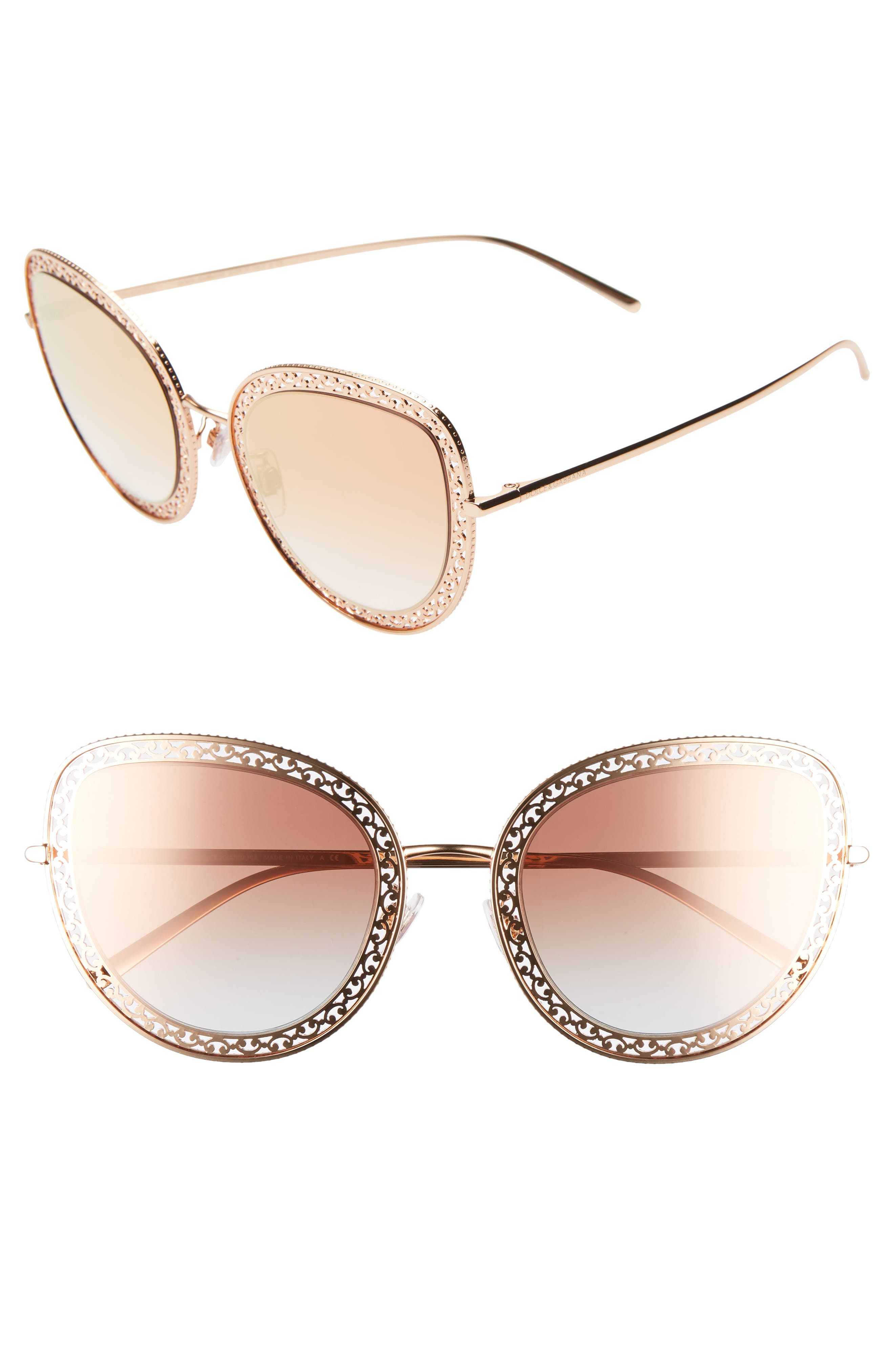 Dolce & gabbana 5m Cat Eye Sunglasses - Gold/ Pink