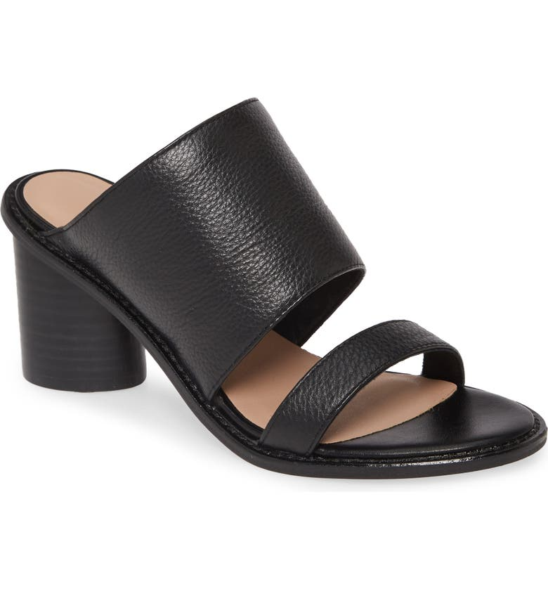CHINESE LAUNDRY Cosmic Slide Sandal, Main, color, BLACK LEATHER
