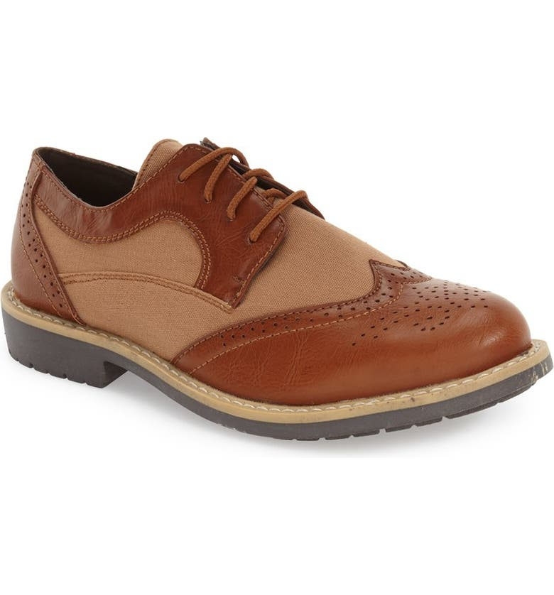 REACTION KENNETH COLE Take Fair Wingtip Oxford, Main, color, 205