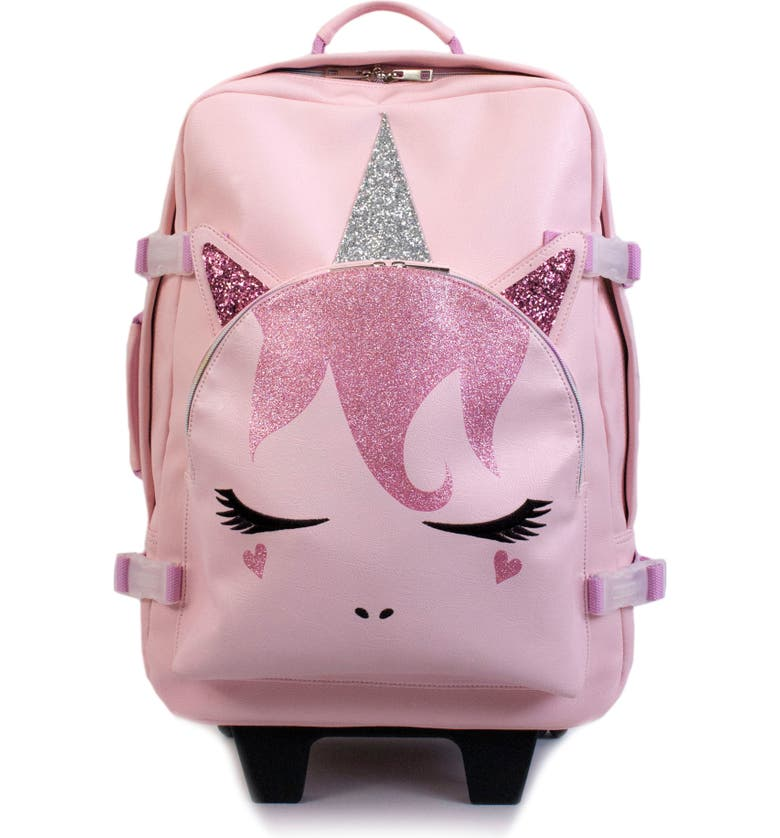 OMG ACCESSORIES OMG Unicorn Critter Rolling Suitcase, Main, color, 650