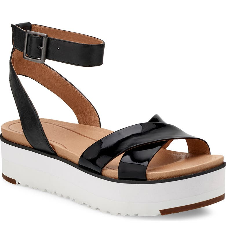 UGG<SUP>®</SUP> Tipton Platform Sandal, Main, color, 001