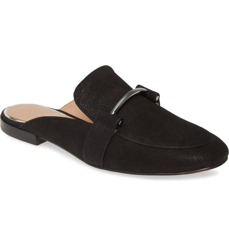 LINEA PAOLO Annette Loafer Mule, Main, color, BLACK PEARL LEATHER