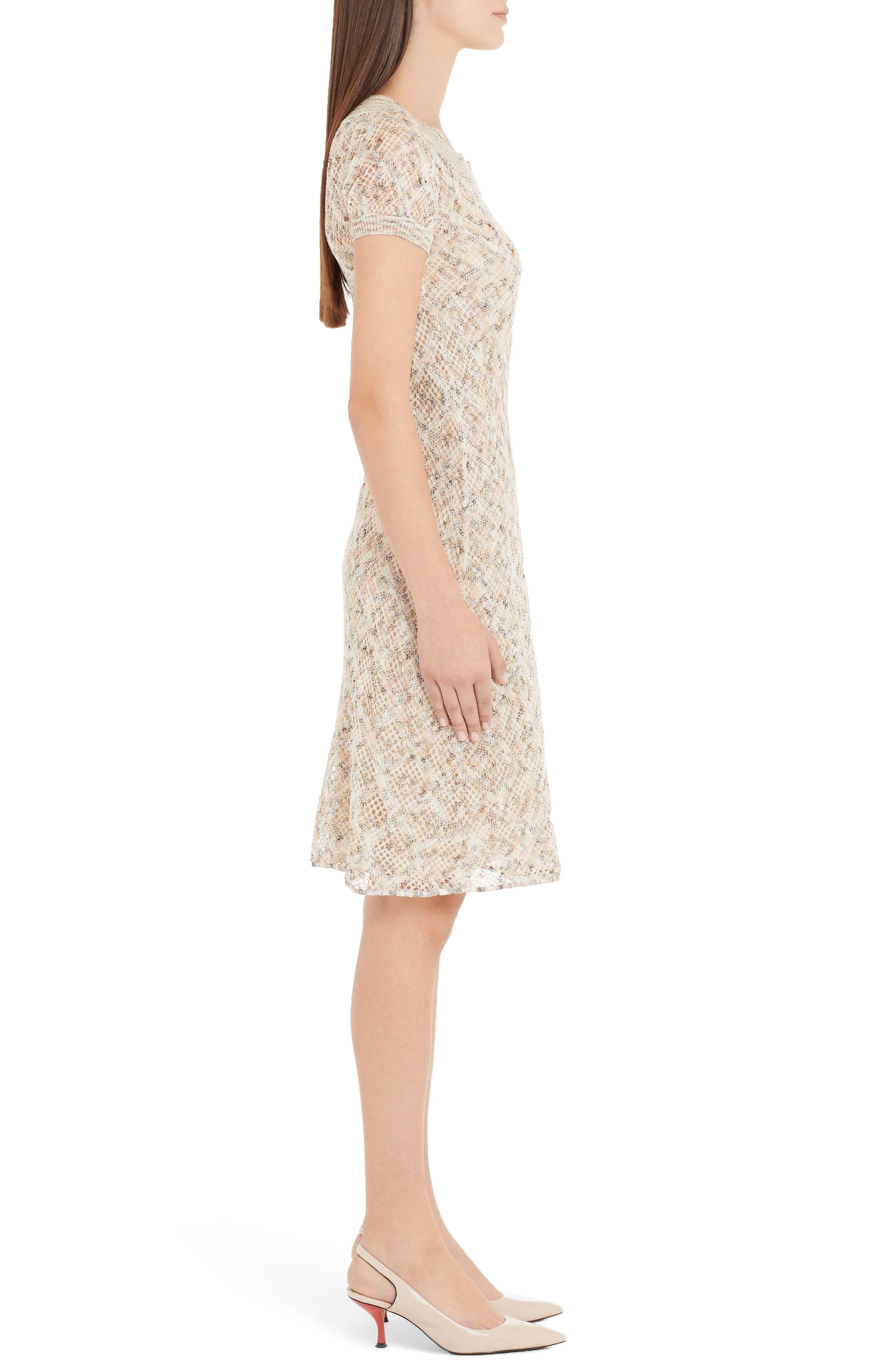 ,                             Cotton Pointelle Sweater Dress,                             Alternate thumbnail 3, color,                             BEIGE