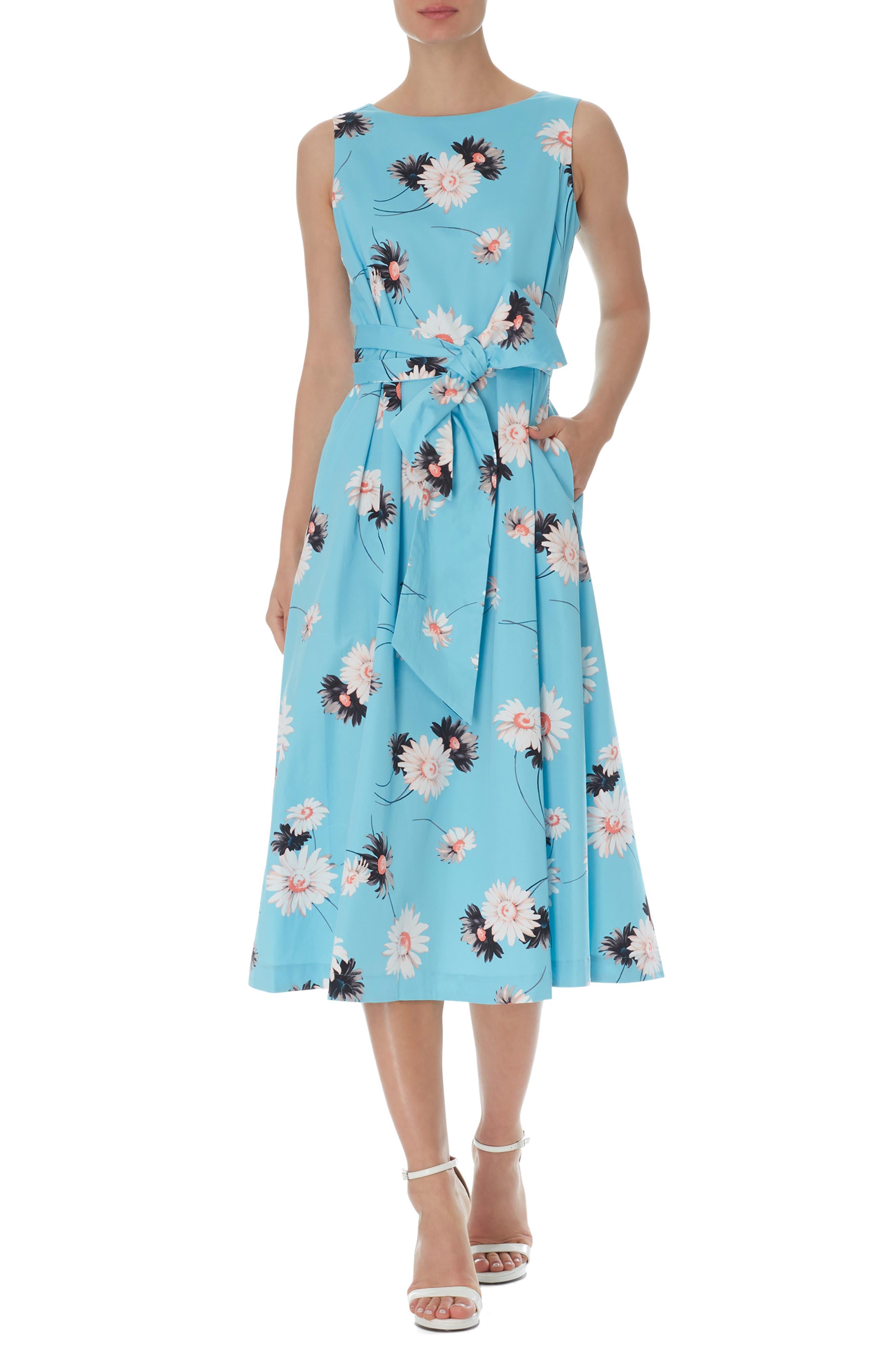 Daisy Sleeveless Tie Waist Midi Dress