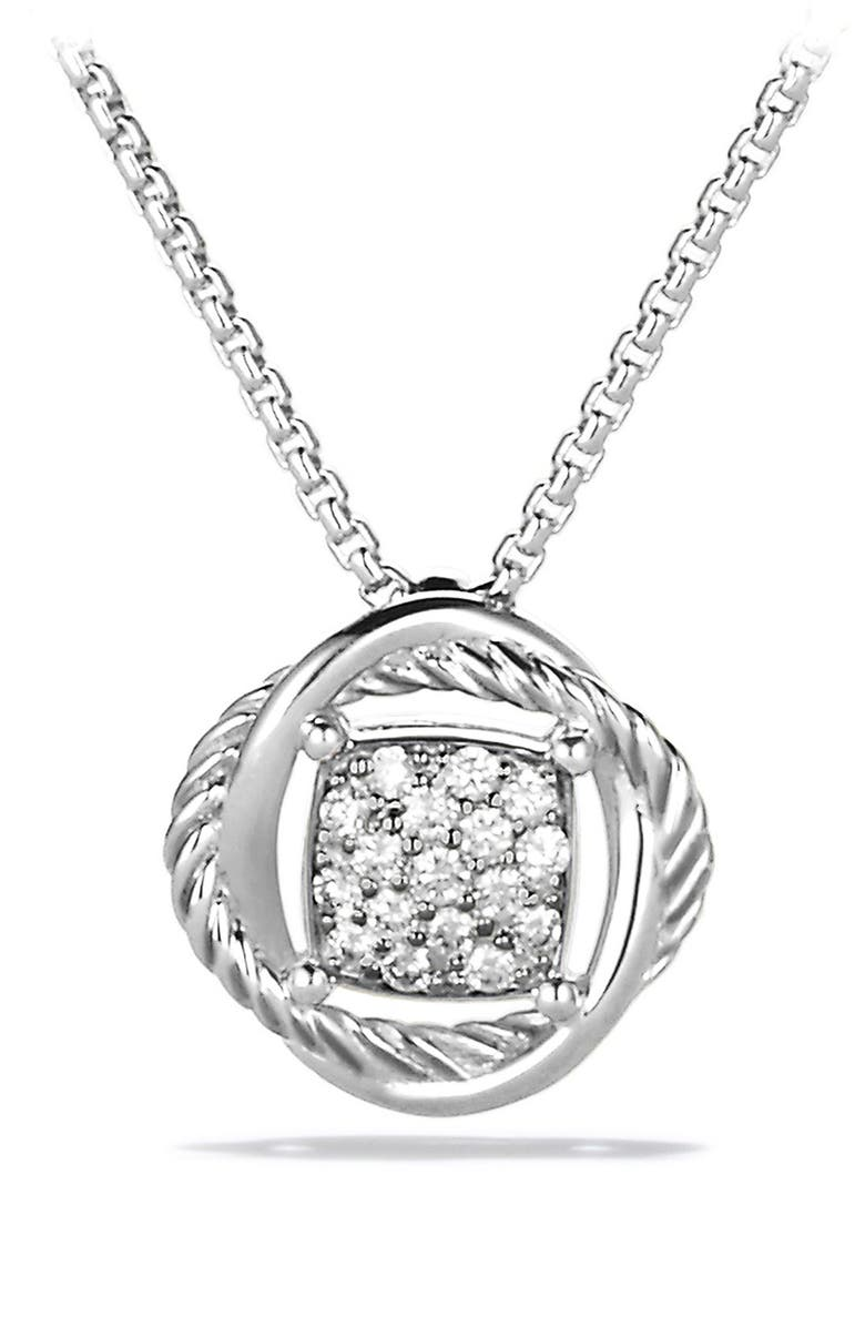 DAVID YURMAN Infinity Pendant with Diamonds on Chain, Main, color, DIAMOND