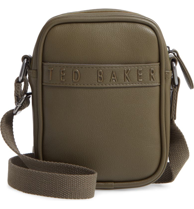 TED BAKER LONDON Bandz Faux Leather Crossbody Bag, Main, color, 310