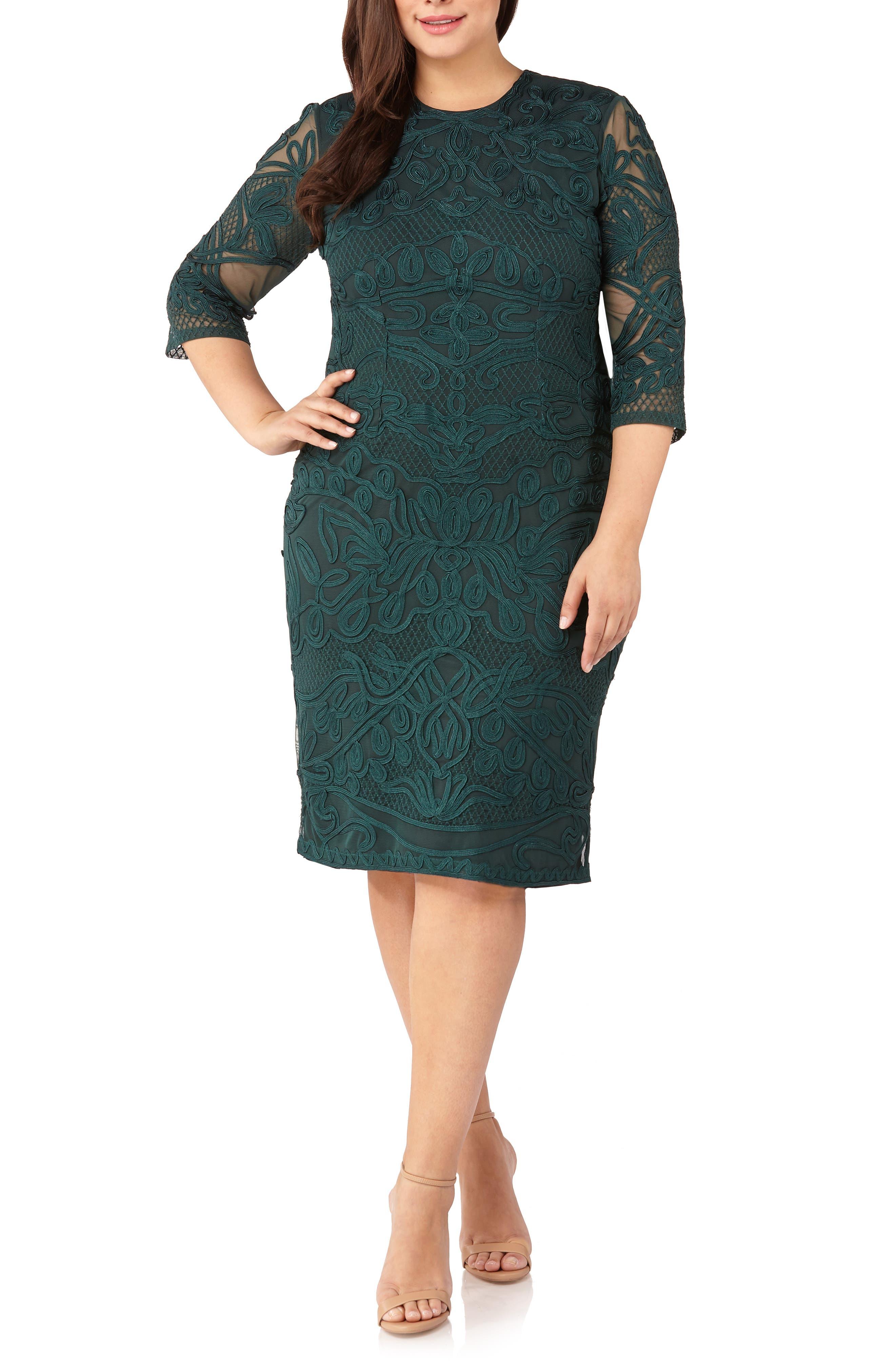 ,                             Soutache Sheath Dress,                             Main thumbnail 1, color,                             309