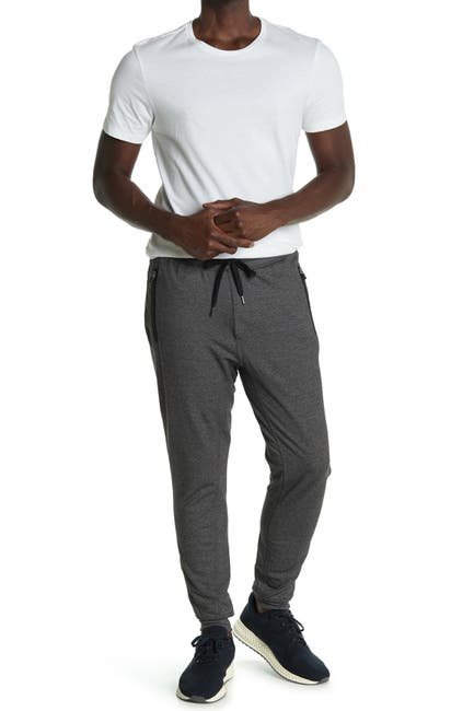 Image of 90 Degree By Reflex Brushed Fill Zip Joggers