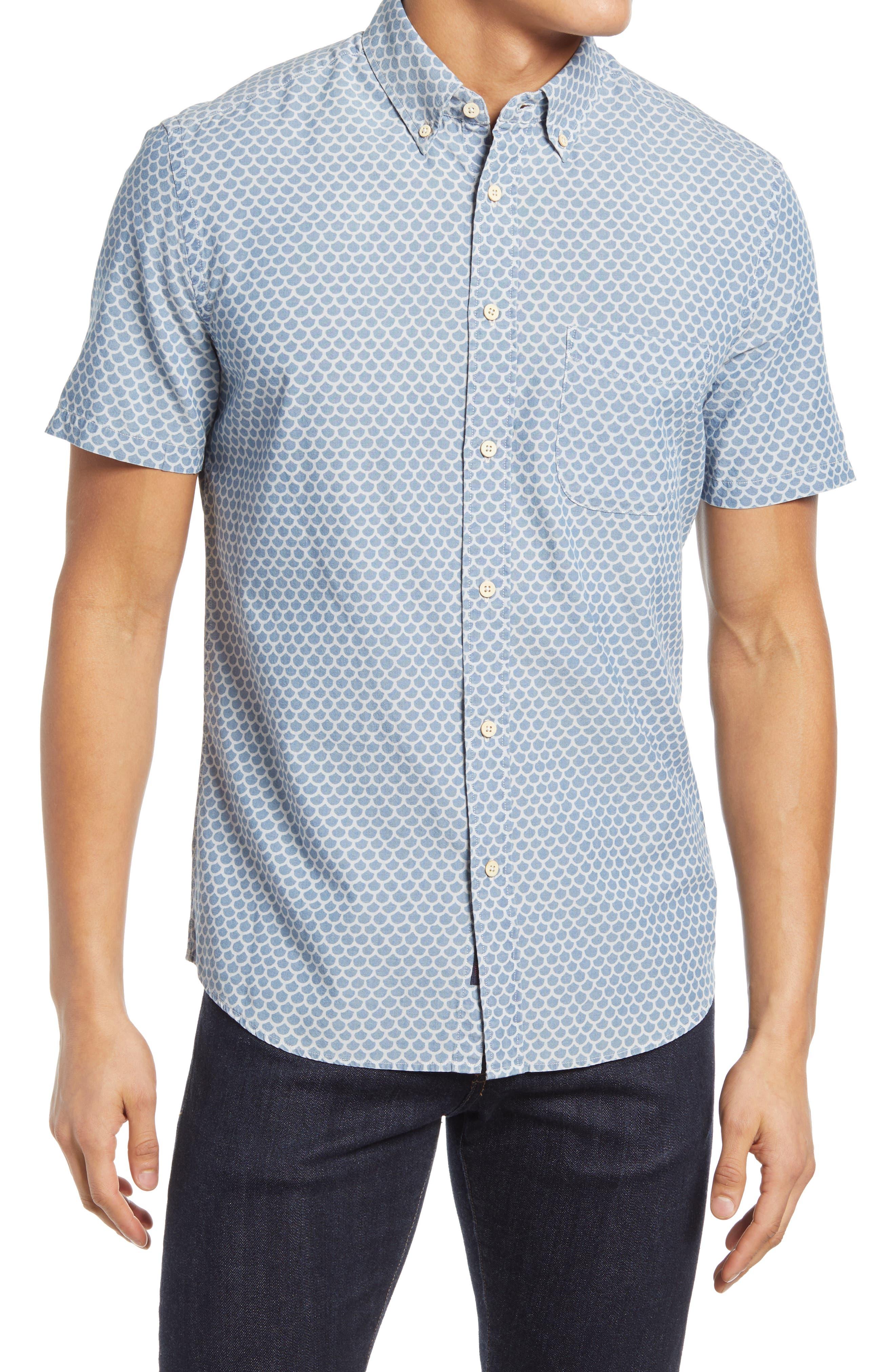 Playa Regular Fit Print Short Sleeve Button-Down Shirt