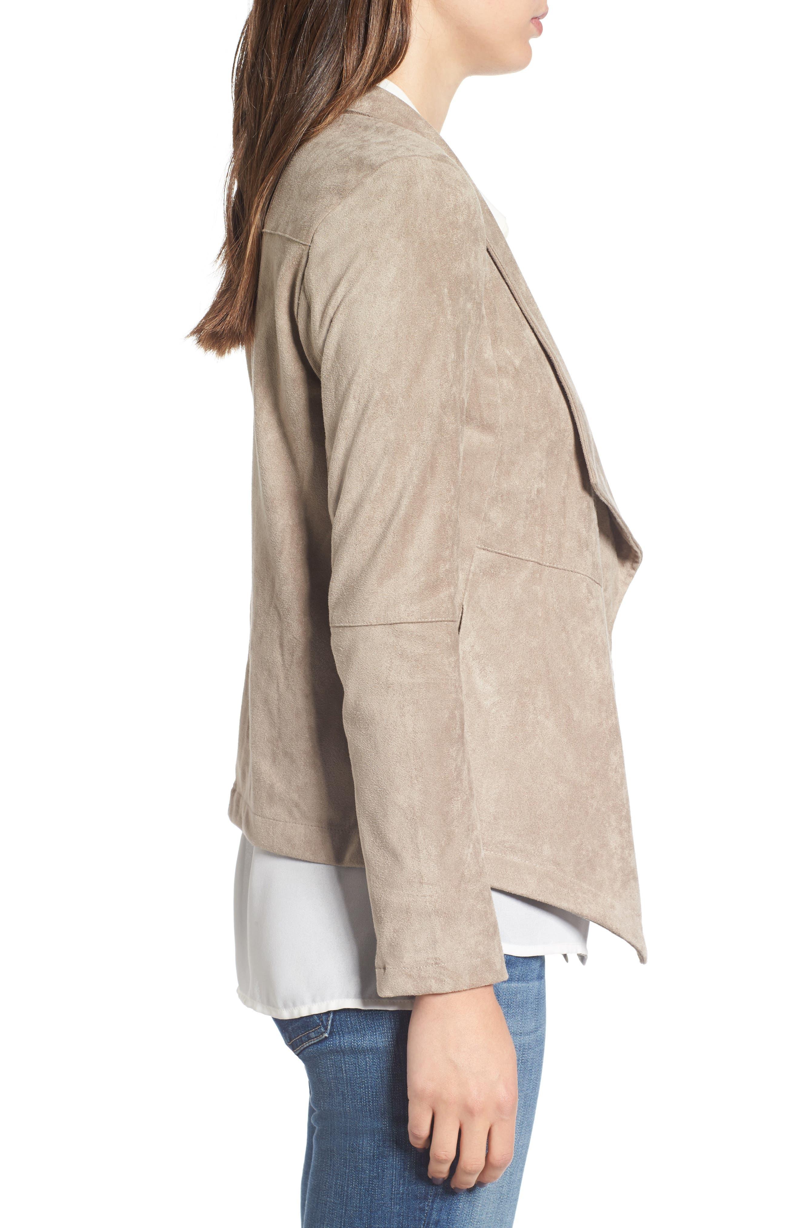 ,                             Nicholson Faux Suede Drape Front Jacket,                             Alternate thumbnail 78, color,                             203