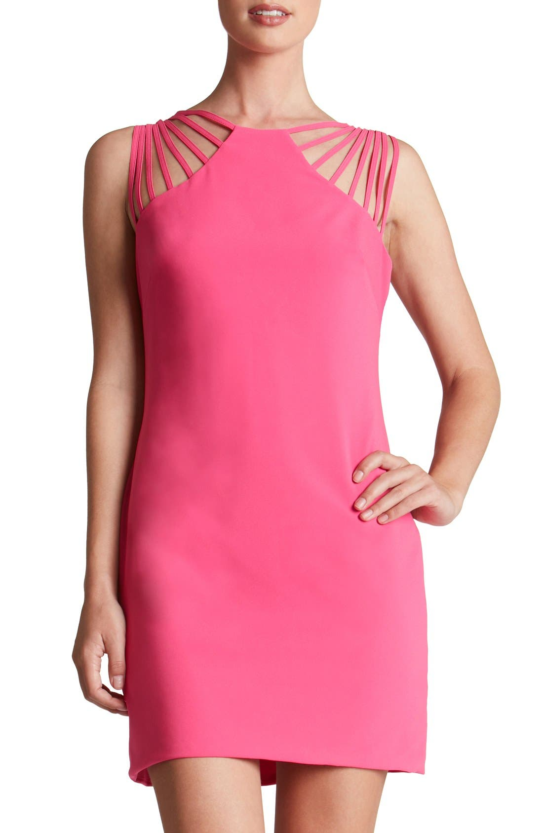 Image of Dress the Population 'Cora' Strappy Shoulder Sheath Dress