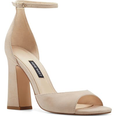 Nine West Gavyn Ankle Strap Sandal- Beige