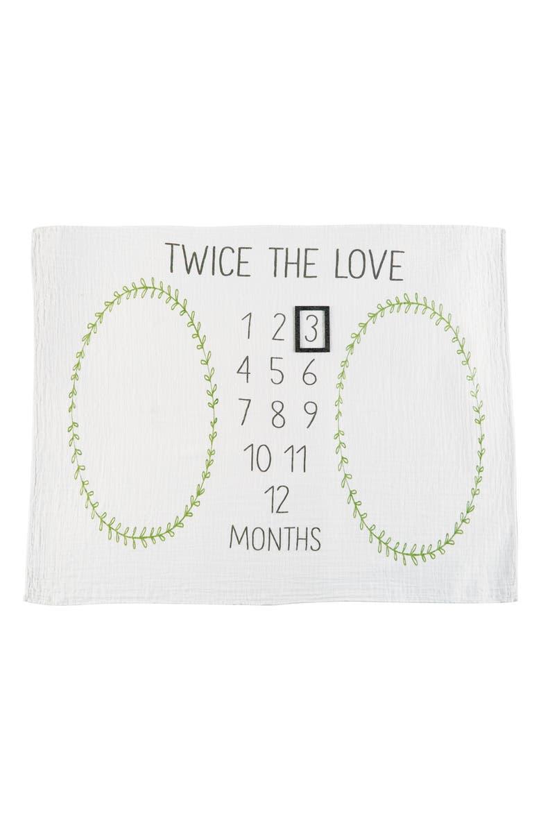 MUD PIE Twin Milestone Blanket, Main, color, 100