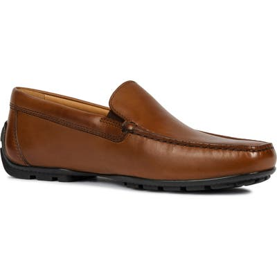 Geox Moner Wide Driving Loafer, Brown