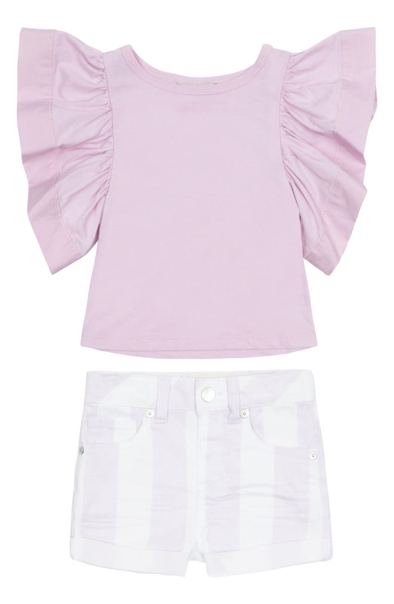 HABITUAL Reina Flutter Top & Shorts Set, Main, color, 515
