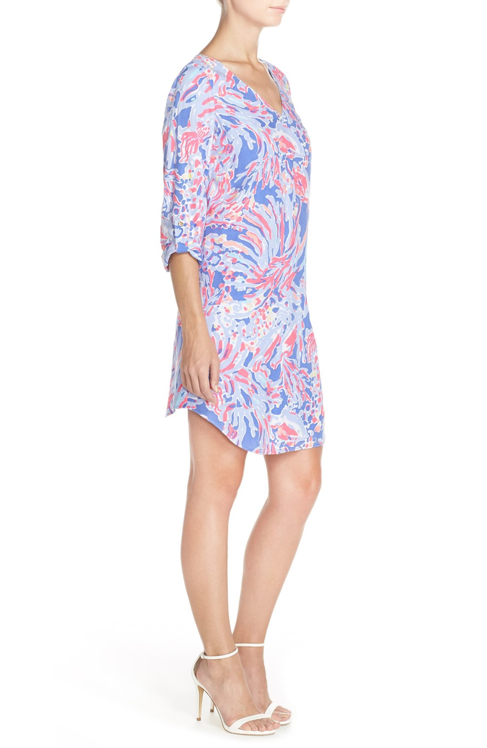 1f067d7ec27 Lilly Pulitzer® 'Arielle' Print Crepe Tunic Dress | Nordstrom