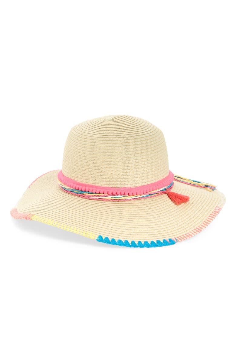 TUCKER + TATE Tassel Trim Woven Sun Hat, Main, color, 260