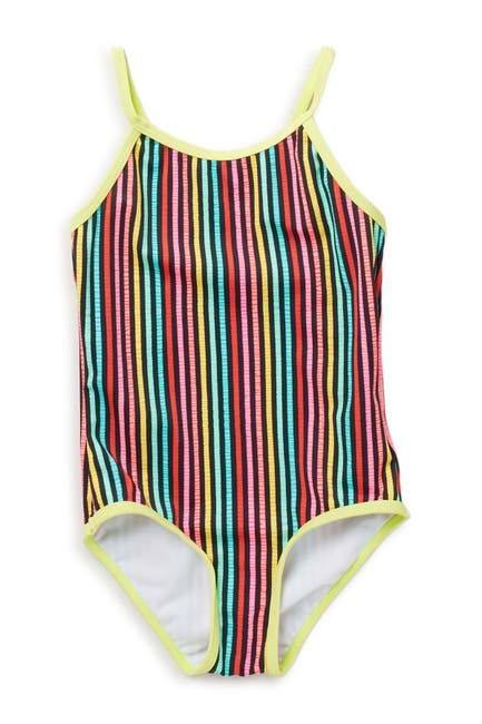 Image of Kensie Girl Striped One-Piece Swimsuit