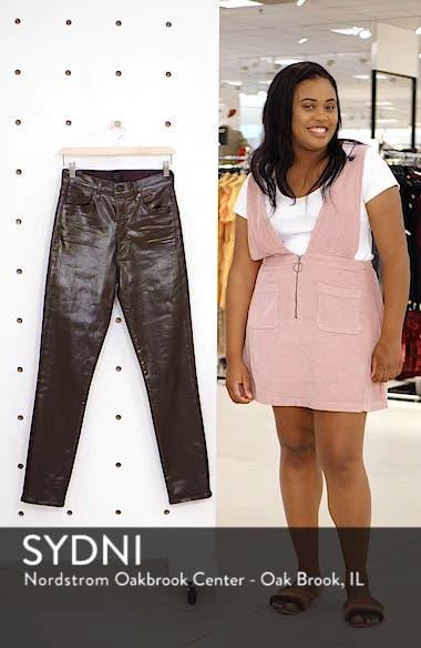 Olivia High Waist Slim Faux Leather Pants, sales video thumbnail