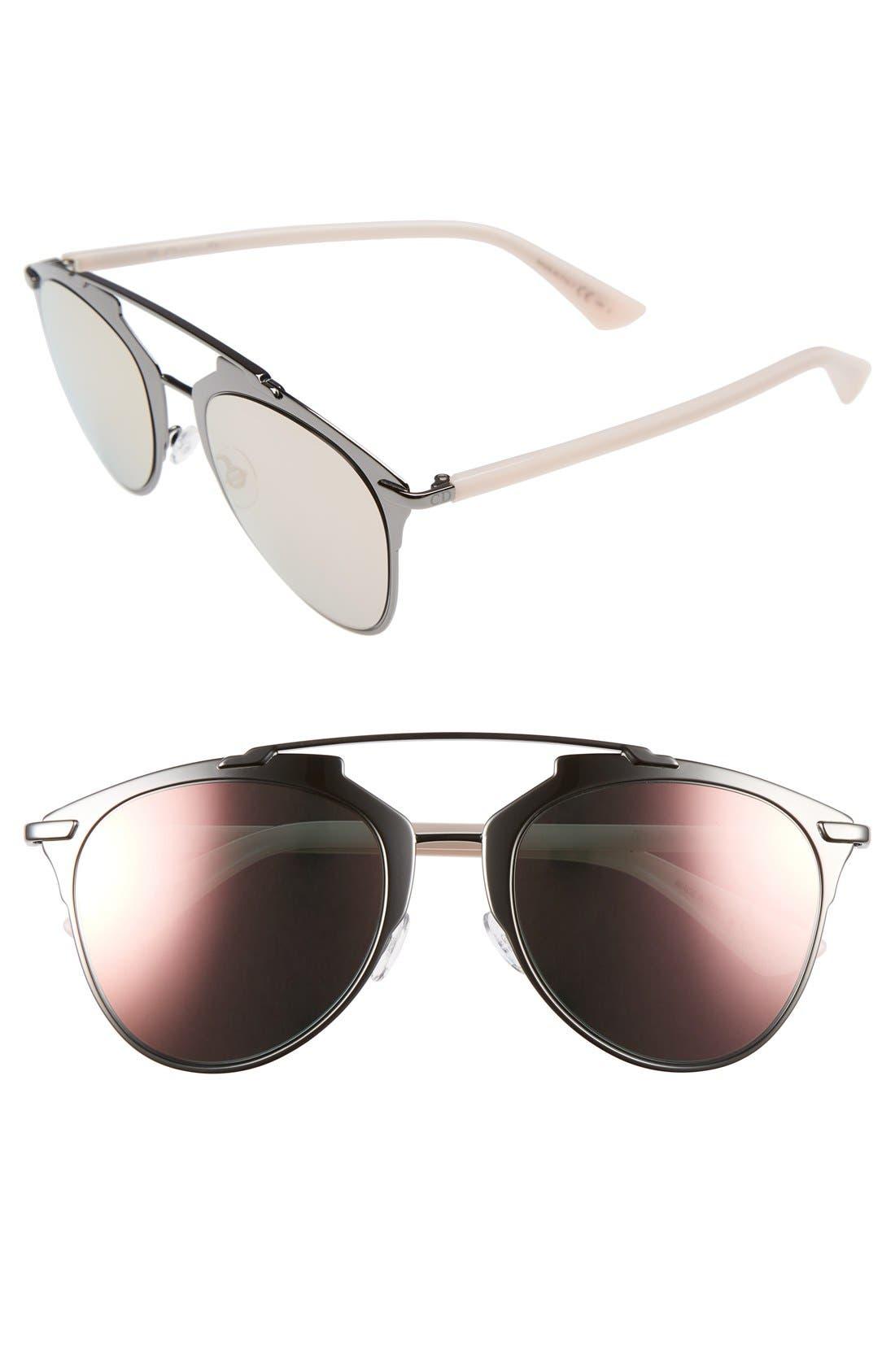 ,                             Reflected 52mm Brow Bar Sunglasses,                             Main thumbnail 10, color,                             045