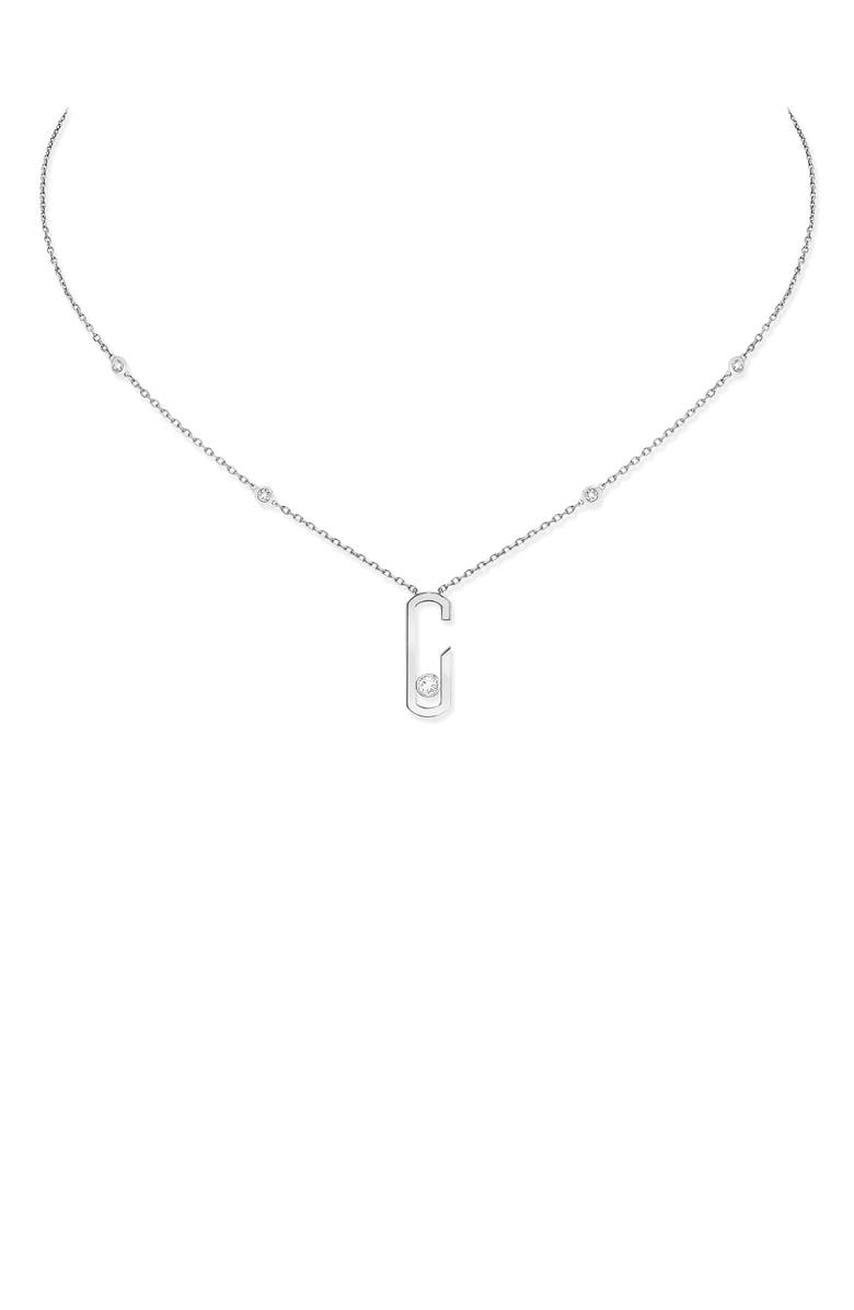 MESSIKA Move Addiction by Gigi Hadid Diamond Station Pendant Necklace, Main, color, WHITE GOLD