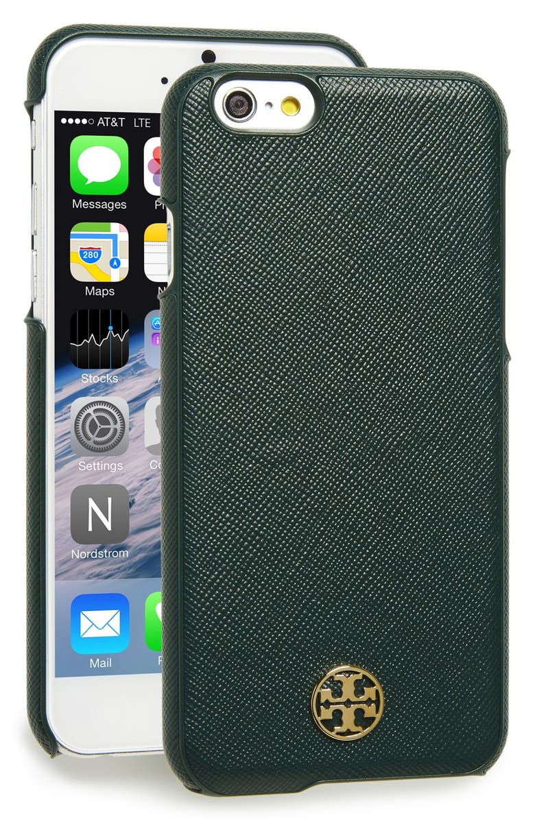 TORY BURCH 'Robinson' Saffiano Leather iPhone 6 Case, Main, color, 300