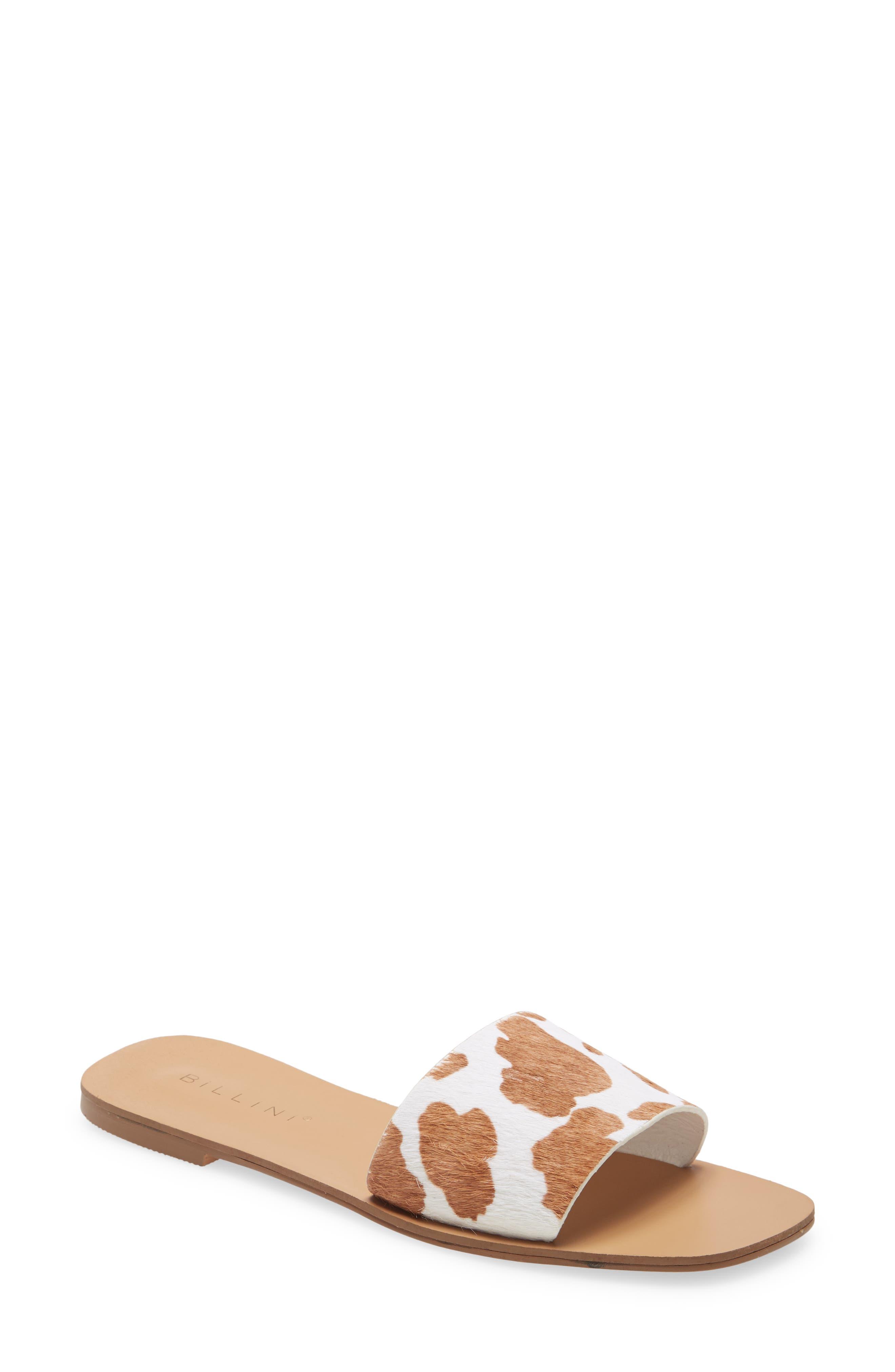 Tyler Genuine Calf Hair Slide Sandal