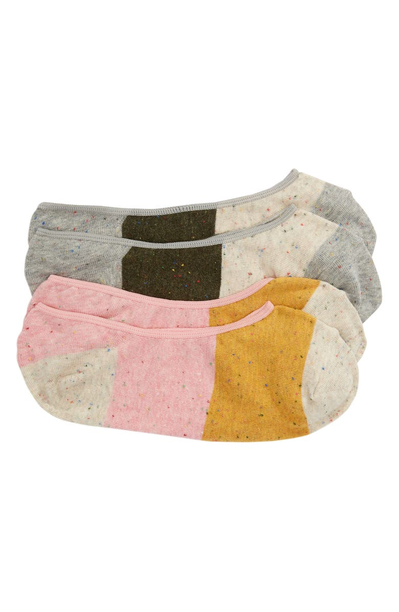 MADEWELL 2-Pack Rainbow Flecked Colorblock Low Profile Socks, Main, color, 900