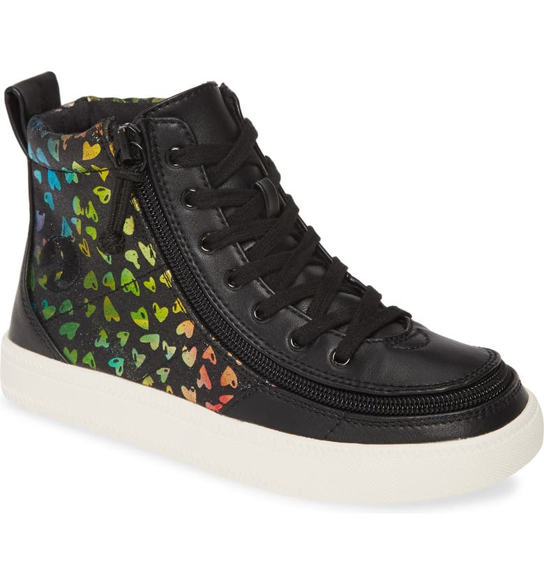 BILLY FOOTWEAR Classic Hi-Rise Sneaker, Main, color, BLACK HEART