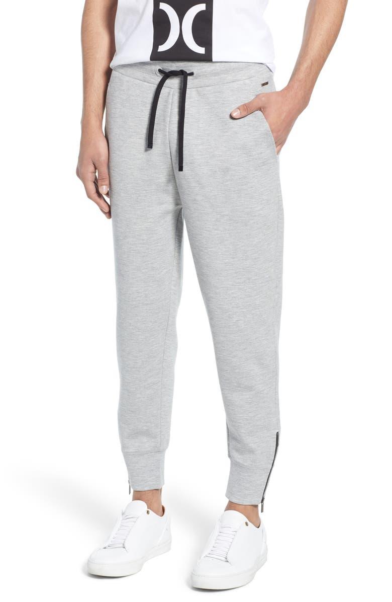 HUGO Dergy Sweatpants, Main, color, GREY
