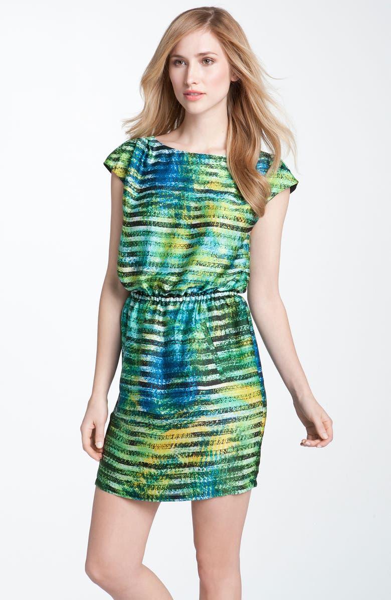 CHAUS 'Spray Paint Stripe' Dress, Main, color, 361