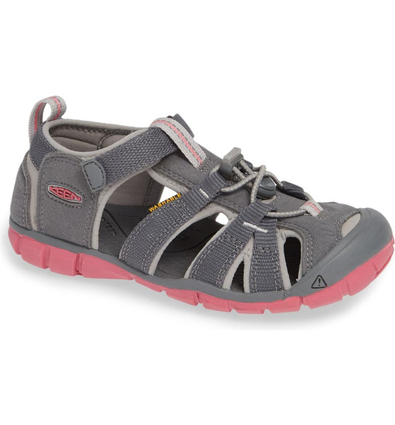 KEEN Seacamp II CNX Water Friendly Sandal, Main, color, STEEL GREY/ RAPTURE ROSE