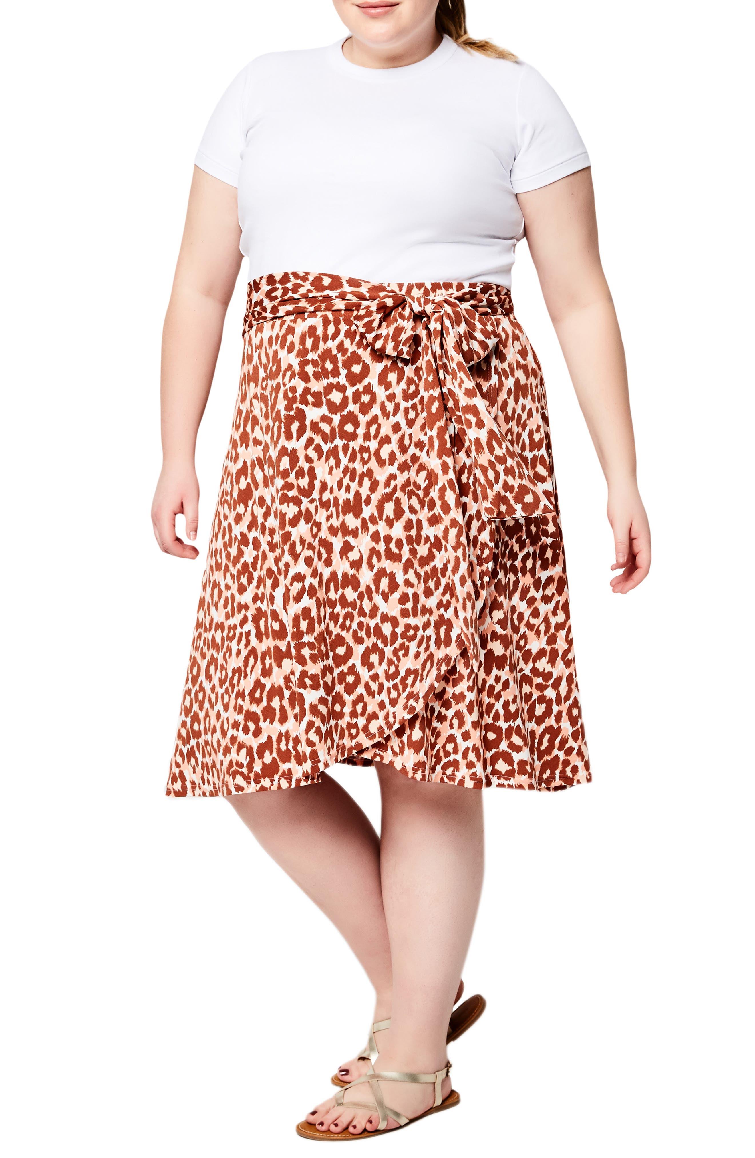 Mae Faux Wrap Jersey Skirt