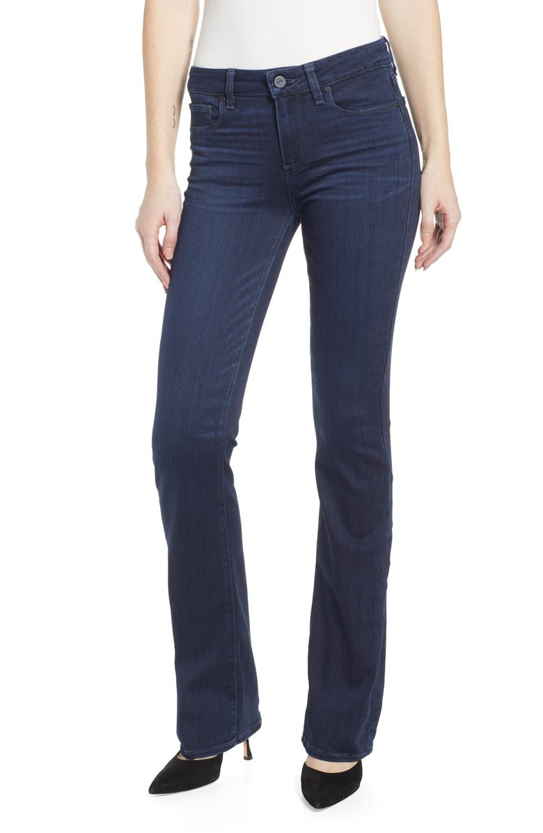 PAIGE Transcend - Manhattan Bootcut Jeans, Main, color, 400