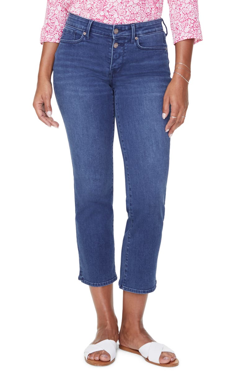 NYDJ Marilyn Straight Leg Ankle Jeans, Main, color, NEVIN